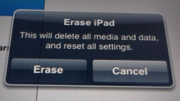 Erase Apple iPad