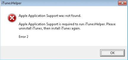 iTunesHelper Error 2