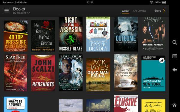 "Amazon Kindle Fire HDX 7"" Ebooks Screenshot"