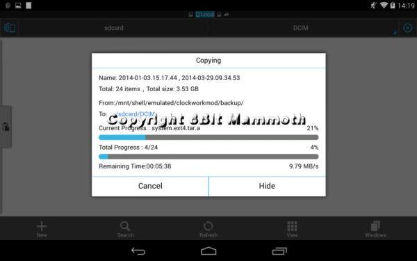 ES File Explorer Backup Copy
