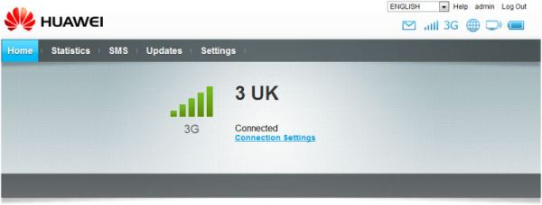 Huawei MiFi 3UK Signal Strength
