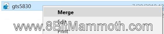 Registry Merge