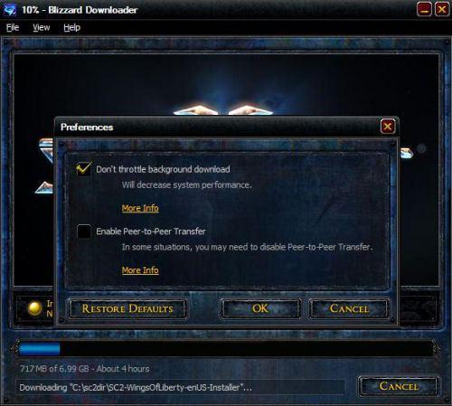 speeding up the StarCraft 2 downloader