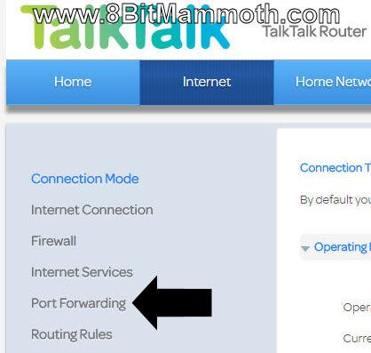 Huawei HG633 TalkTalk Router Port Forwarding Instructions
