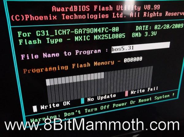 flashing dx2420 bios