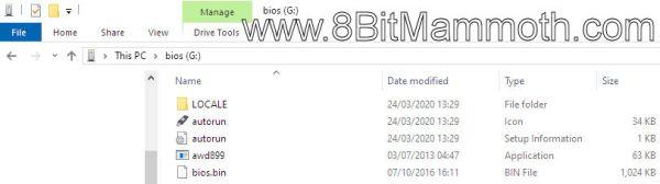 memory stick files