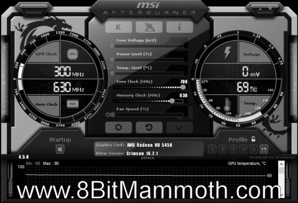 MSI Afterburner - ATI Radeon HD 5450