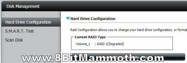 D-Link DNS-320 Raid 1 degraded