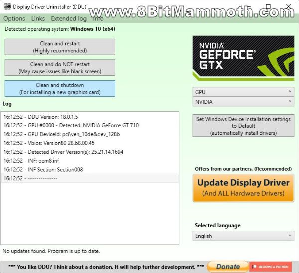 Display Driver Uninstaller DDU