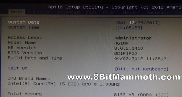Photo of H61MX BC1F1P02 bios info