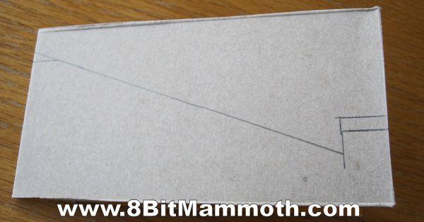 drawing lines on cardboard