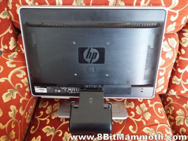 HP w1907v monitor rear