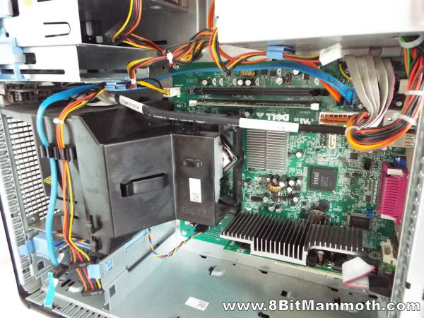 Inside a Dell Optiplex 380 Mini Tower Computer