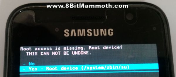 yes root device