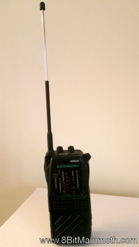 Omega Multi Band Portable Radio audio with aerial extended