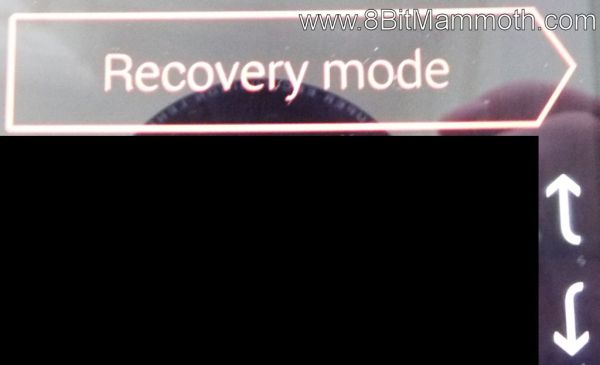Recovery mode