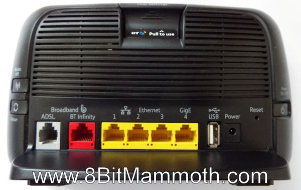 BT Home Hub 3 Type B Rear
