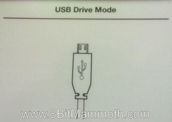 Kindle 3 USB Drive Mode