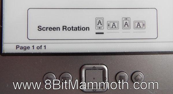 Kindle 4 Screen Rotation