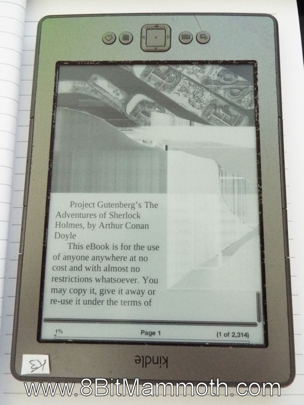 Kindle with faulty e-ink display
