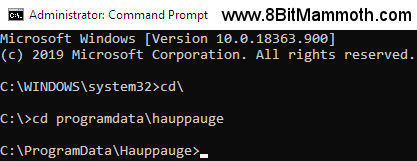An edited screenshot showing the command prompt