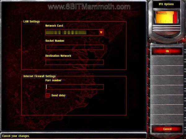 Red Alert 2 LAN settings