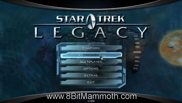 Star Trek Legacy menu