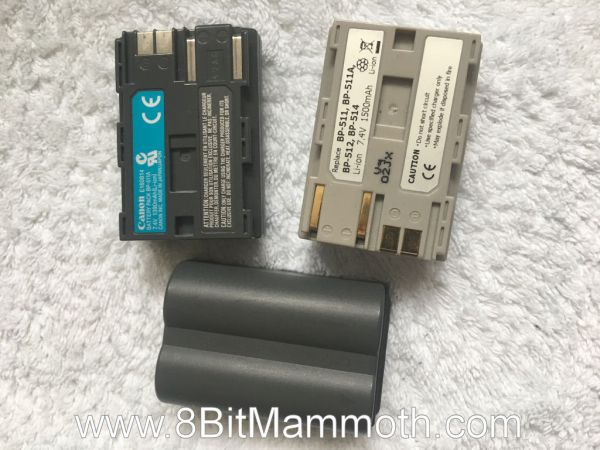 A photo of batteries