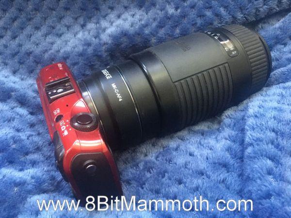 A Sigma lens on a Canon EOS M camera