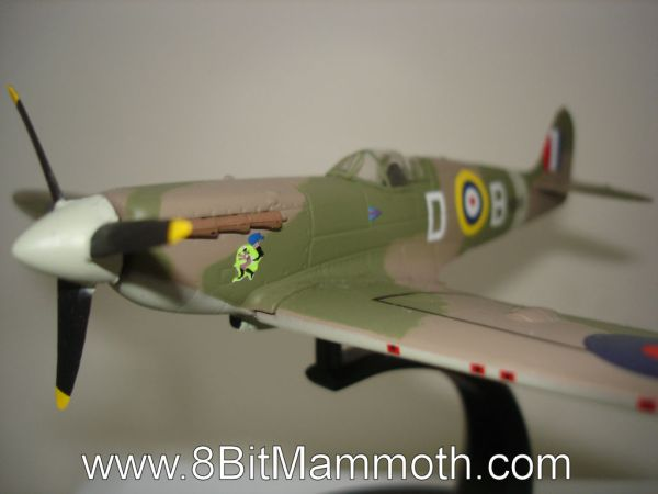 A sample photo of a model plane.