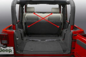 Can I lock a JK rear seat in tumbled position?  Jeep