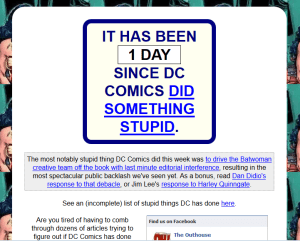 It's been one day since DC screwed up