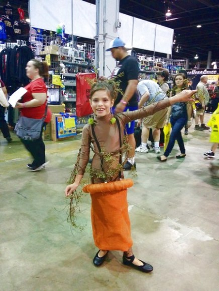 Number 1 - Dancing Groot (This girl got into her character and was the only cosplayer dressed as the dancing version of Groot)