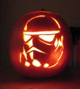 storm trooper pumpkin