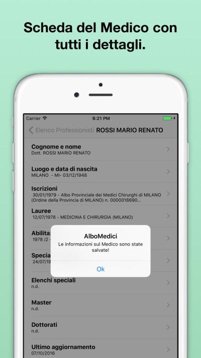 AlboMedici - Scheda Medico