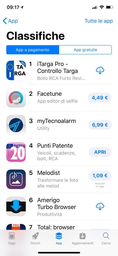 iTarga Pro - #1 su Appstore in Classifica Generale Italia