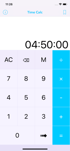 Time Calc Pro - Calculator 01 Add