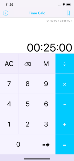 Time Calc Pro - Calculator 03 Add