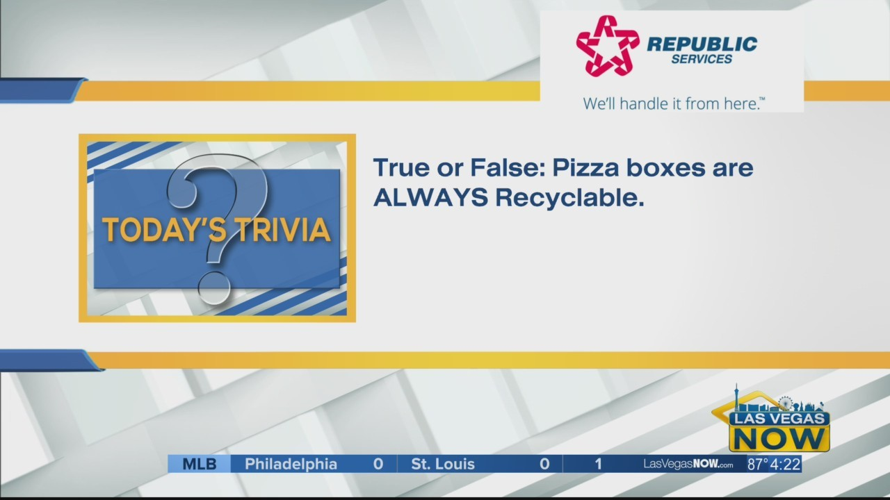 Are pizza boxes always recyclable?