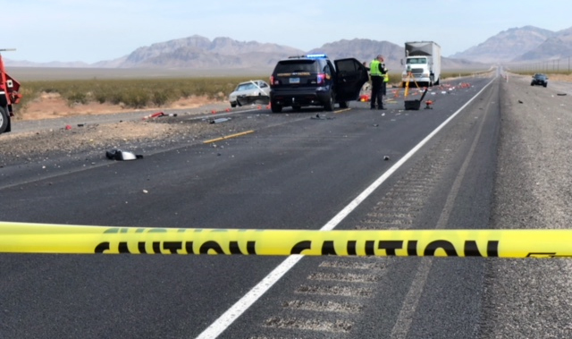 2 killed in 4-vehicle crash on US 93, north of Las Vegas