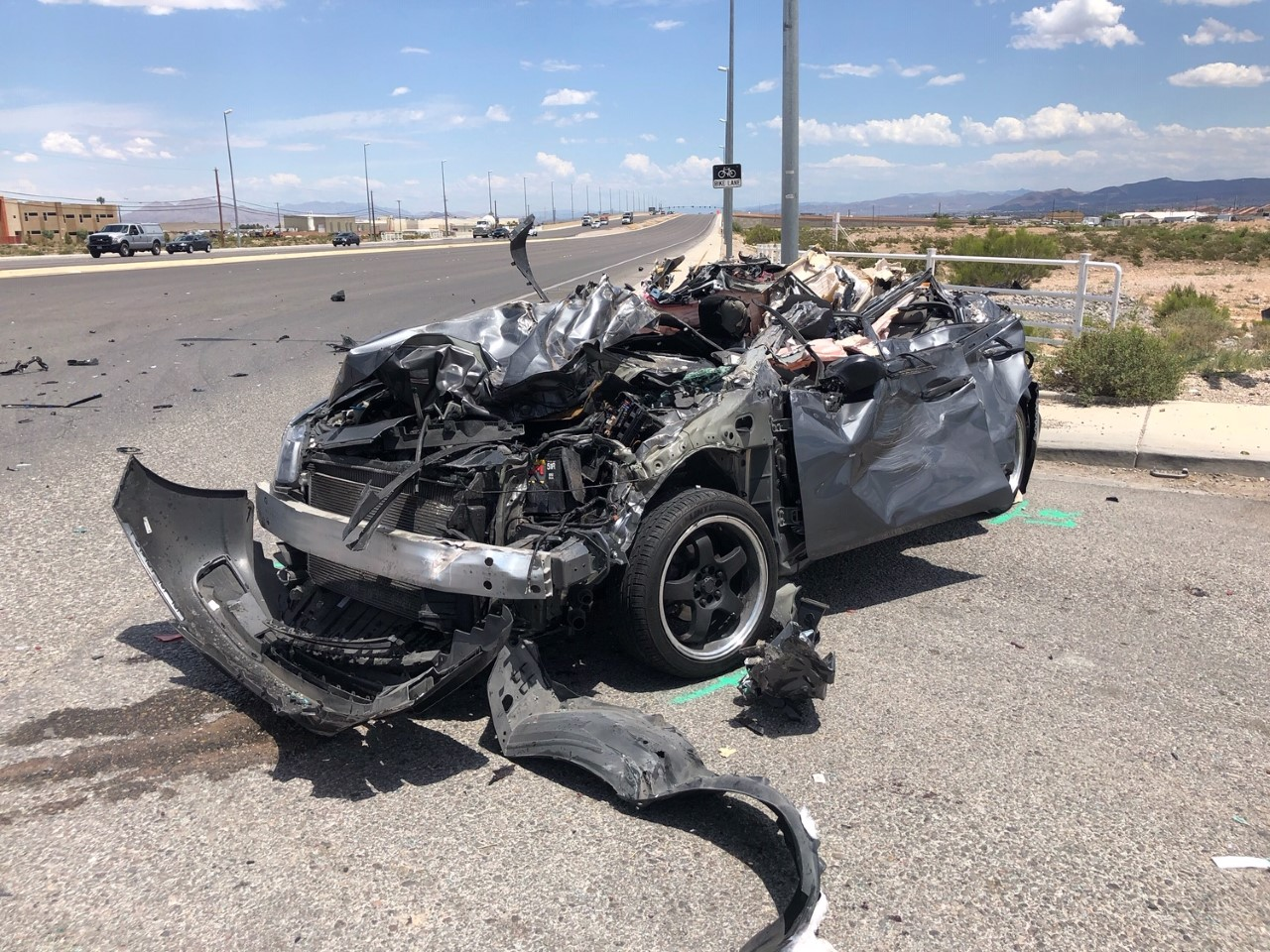 CORRECTION: No one died in major crash at Blue Diamond, Jones, NHP says
