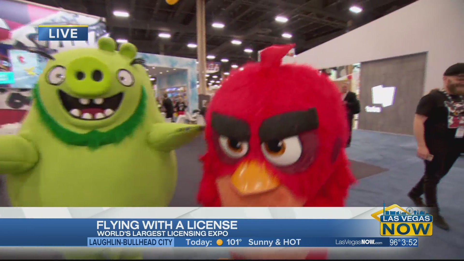 Favorite mascots and characters have taken over Mandalay Bay
