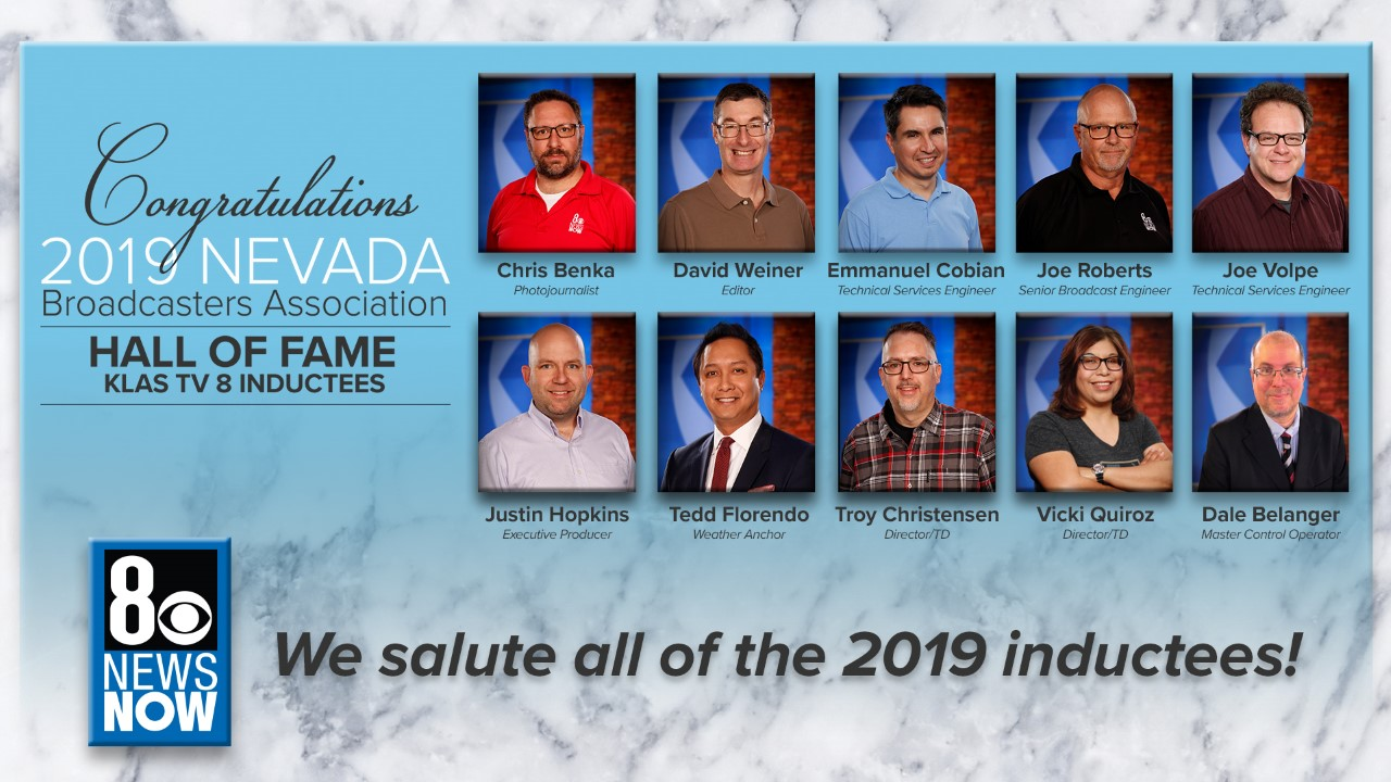 KLAS-TV inductees to the Nevada Broadcasters Hall of Fame