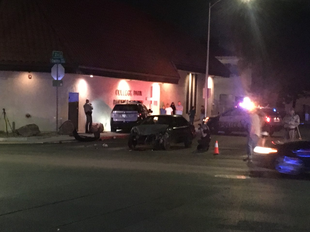 Metro Police officer in crash at Owens and 21st