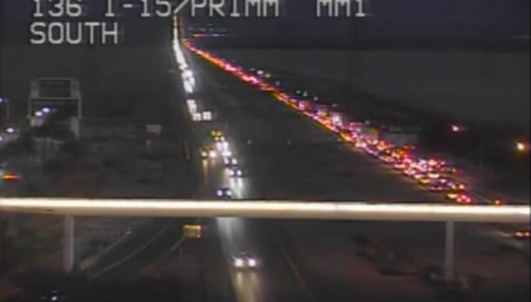 TRAFFIC ALERT: Labor Day traffic on I-15 south is moving at