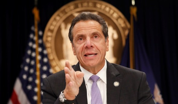 Andrew Cuomo New York workers stay at home