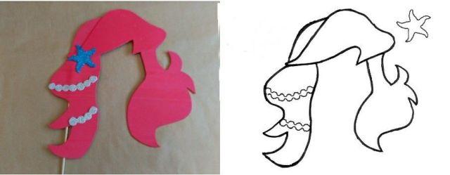 8-sorbos-de-inspiración-diy-photocall-princesas-Ariel-de-la-sirenita