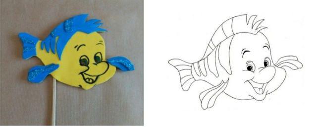 8-sorbos-de-inspiración-diy-photocall-princesas-flounder-de-la-sirenita