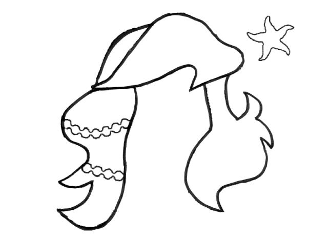 8-sorbos-de-inspiración-diy-photocall-princesas-plantilla-Ariel-de-la-sirenita