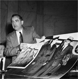 Joseph McCarthy at the Army versus McCarthy hearings